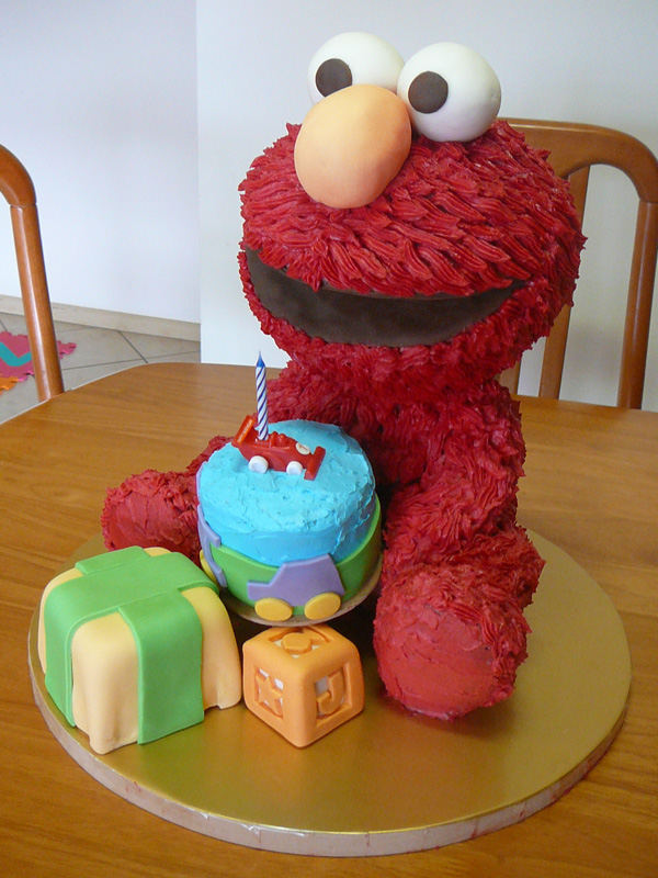 How i made an elmo cake part 1 zge blog for 3d decoration for birthday