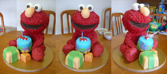 Elmo Cake Decorating Instructions : How I Made My Elmo Cake - Instructions Online ...